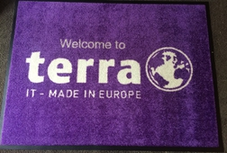 ENTRANCEMATS UK - PREMIUM LOGO MAT - WELCOME TO TERRA